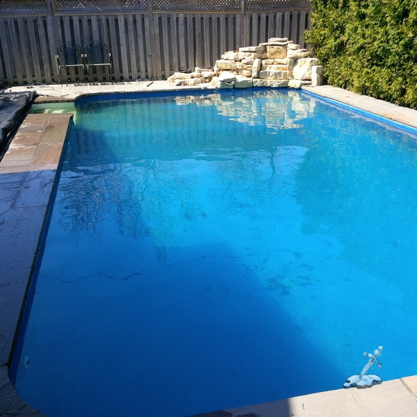This is how a pool should look when you peel the cover off...